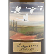 THE FOREIGN AFFAIR RIESLING 2013