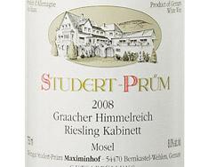 STUDERT-PRÜM GRAACHER HIMMELREICH RIESLING KABINETT 2012
