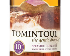 TOMINTOUL 10 YEARS OLD SPEYSIDE GLENLIVET SINGLE MALT