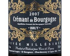 CAVE DE LUGNY CUV�E MILL�SIM�E BRUT CR�MANT DE BOURGOGNE 2014