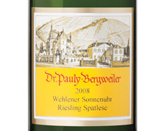 DR. PAULY-BERGWEILER WEHLENER SONNENUHR RIESLING SP�TLESE 2016