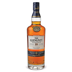 THE GLENLIVET 18 YEARS OLD SINGLE MALT SCOTCH WHISKY