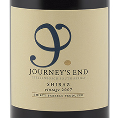 JOURNEY'S END SHIRAZ 2015