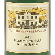 DR. HEIDEMANNS-BERGWEILER GRAACHER HIMMELREICH RIESLING SP�TLESE 2016