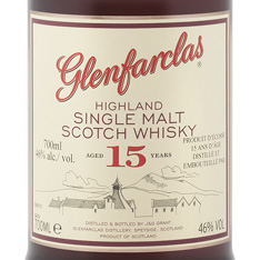 GLENFARCLAS 15 YEARS OLD HIGHLAND SINGLE MALT SCOTCH WHISKY