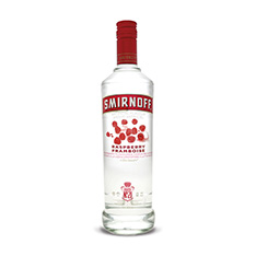 SMIRNOFF RASPBERRY FLAVOURED VODKA