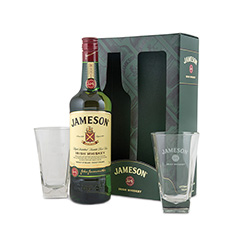 JAMES IRISH WHISKEY WITH GLASSES GIFT PACK**