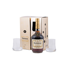 HENNESSY VS PLUS 2 GLASSES GIFT SET