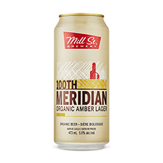MILL STREET 100TH MERIDIAN ORGANIC AMBER LAGER