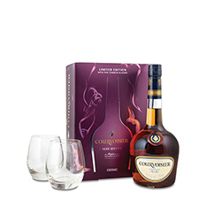 COURVOISIER VS GIFT PACK WITH GLASSES**