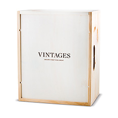 VINTAGES WOODEN BOX - 6 BOTTLE