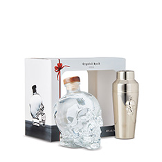 CRYSTAL HEAD VODKA SHAKER GIFT SET