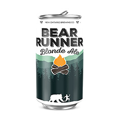 NEW ONTARIO BREWING BEAR RUNNER BLONDE ALE