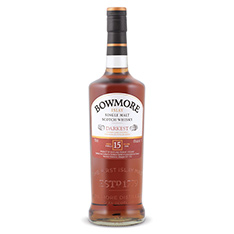 BOWMORE DARKEST 15 YEARS OLD ISLAY SINGLE MALT SCOTCH WHISKY