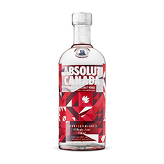 ABSOLUT CANADA LIMITED EDITION BOTTLE
