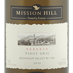 MISSION HILL RESERVE PINOT GRIS 2017