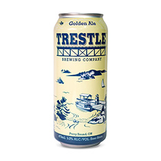 TRESTLE BREWING COMPANY GOLDEN ALE